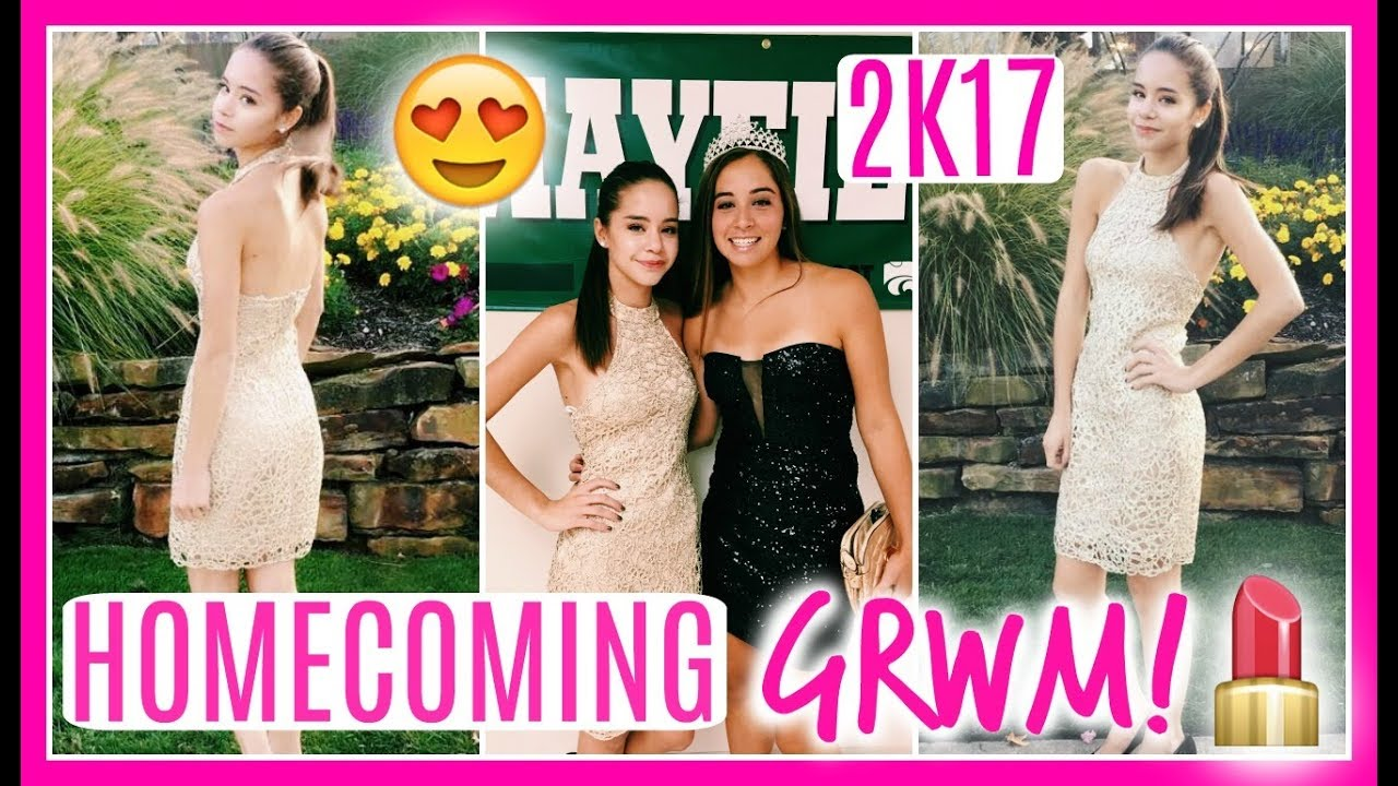 Get prom ready with me hair makeup dress - Homecoming Get Ready With Me 2017 Makeup Hair Dress
