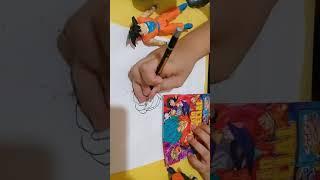 Como desenhar Goku Blue