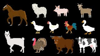 Farm Animals - Book Version - Old MacDonald - The Kids' Picture Show (Educational Learning Video)