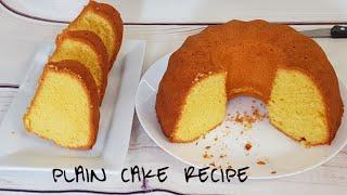 Jifunze kuoka keki plain na ya kuchambuka kwa njia rahisi  Plain cake recipe