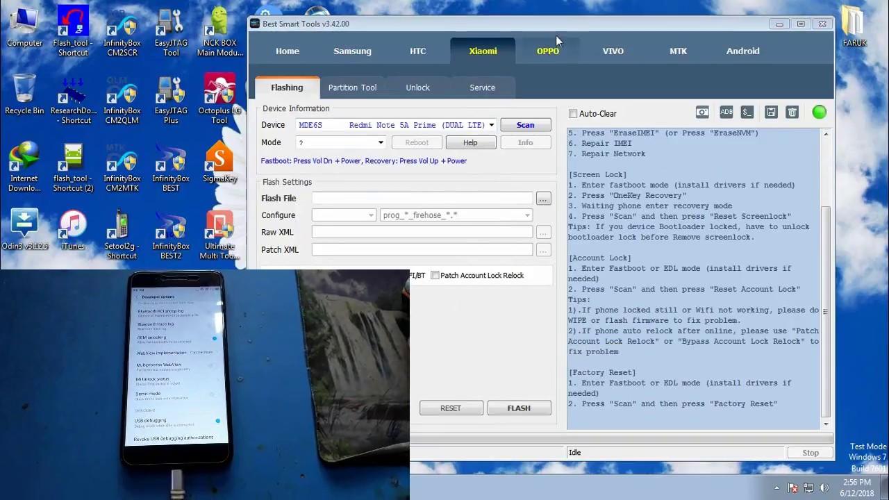 Xiaomi Redmi Note 5A & Note 5A Prime Invalid Imei Unknown Baseband No Sim  Repair