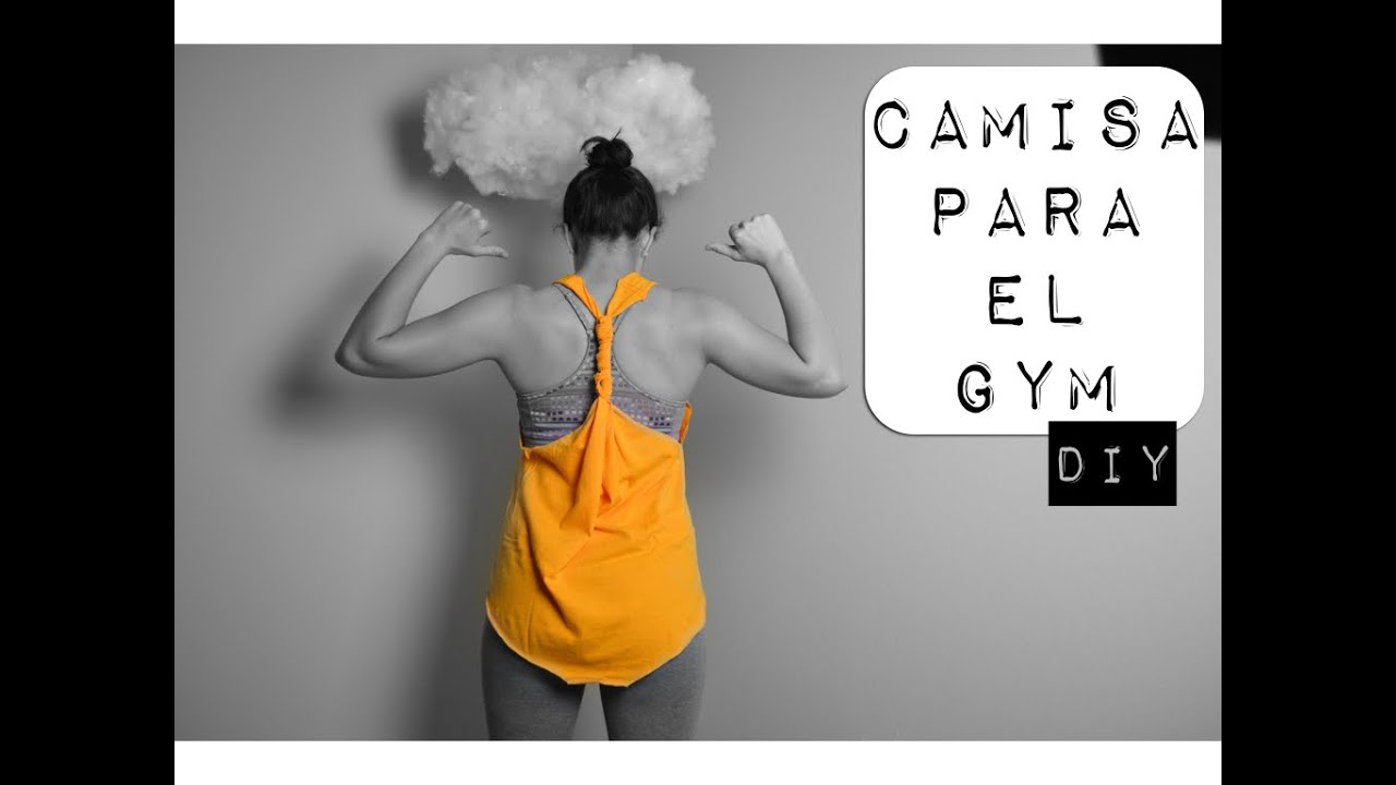Diy camisa para el gym youtube for El gimnasio