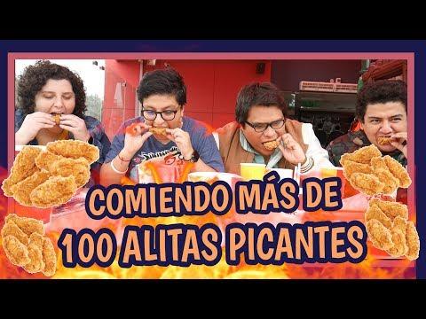 COMIENDO MÁS DE 100 ALITAS PICANTES - Ariana Bolo Arce