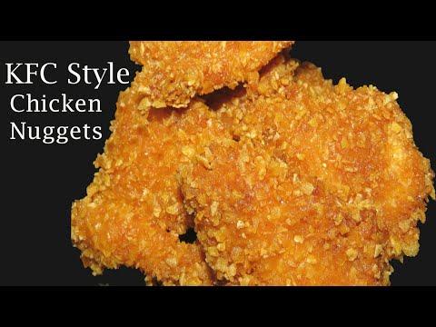 KFC Style Chicken Nuggets-Chicken Recipes In Telugu-How To Make Crispy Chicken Nuggets-Kids Recipe