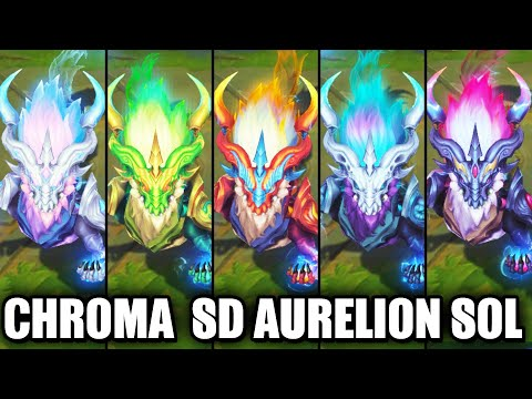 All Storm Dragon Aurelion Sol Chroma Skins Spotlight (League of Legends)