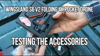 Wingsland S6 V2 Folding 4K Pocket Drone Testing The ACCESSORIES