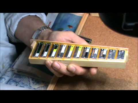 waxing Hohner diatonic accordion reeds