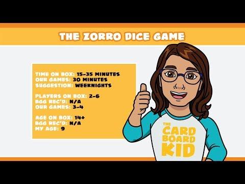 The Cardboard Kid - 125: The Zorro Dice Game