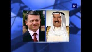 جلالة الملك وأمير الكويت يبحثان هاتفيا العلاقات الثنائيةَ - (29-2-2016)