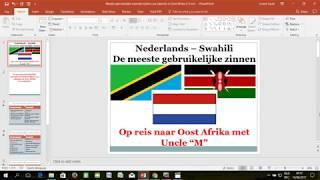 De meeste gebruikelijke woorden of zinnen tijdens uw vakantie in Oost Afrika 02