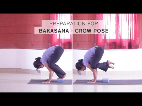 preparation for bakasana  crow pose  youtube