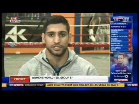 Amir Khan Confirms Collazo Fight