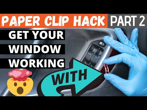 How To Fix A Stuck Car Window - 2 (window Wont Go Up) Paper Clip Hack