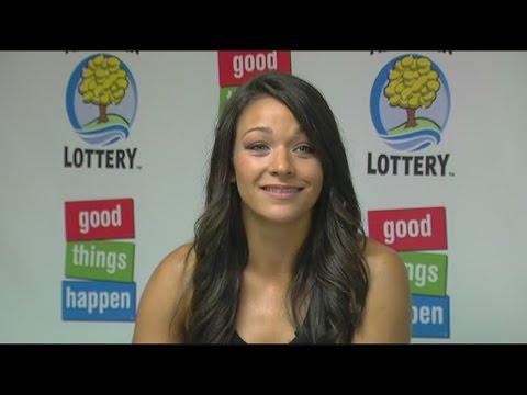 Young woman wins lottery jackpot