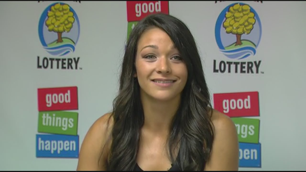 Young Woman Wins Lottery Jackpot YouTube