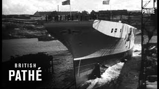 Launching British Aircraft Carrier (1945)
