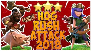 TOWN HALL 11 HOG RUSH ATTACK STRATEGY 2018! STRONG TH11 3 STAR WAR ATTACK!! - CLASH OF CLANS(COC)