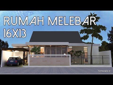a Rumah melebar Menggabungkan dua tipe 45 16x13m [kode 012]