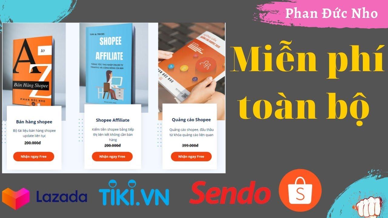 Tặng full bộ ebook Shopee bán hàng, quảng cáo shopee