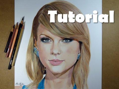 Cómo Dibujar Un Rostro Con Lápices De Colores Taylor Swift How