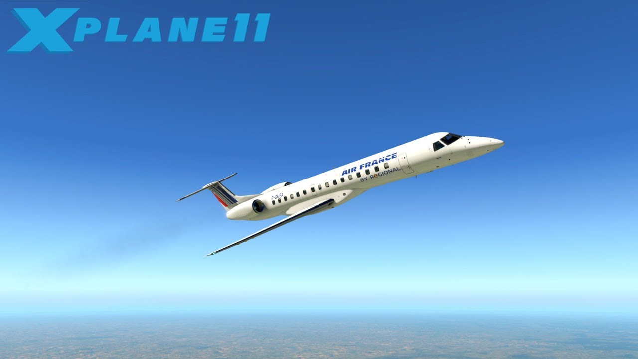 Probamos el Embraer erj 145 | X-Plane 11 | Toulouse-Calvi Download