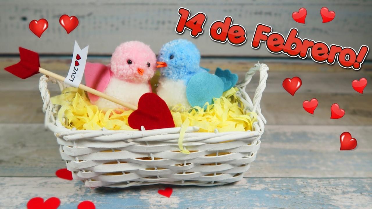 Como hacer pajaritos con pompones de lana idea f cil regalo 14 de febrero san valent n youtube Adornos san valentin manualidades