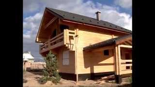 строительство домов из клееного бруса видео