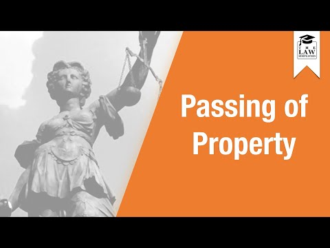 Commercial Law - Sale of Goods: Passing of Property