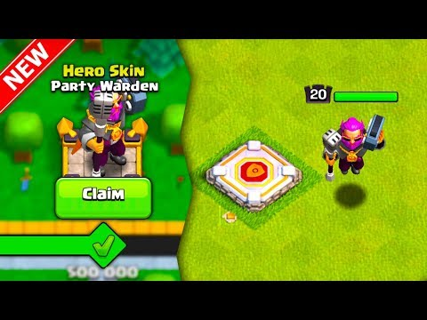 UNLOCKING NEW * PARTY WARDEN * SKIN In Clash Of Clans!