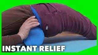 How to Crack Your Back (Lumbar Sacrum Tailbone Area) With Foam Roller