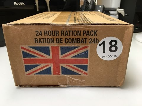 (186) British Army Ration Pack - Only Food for a Day