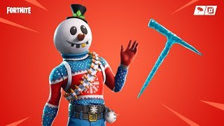"""*NEW* Christmas Snowman Skin """"SLUSHY SOLDIER"""" & ICICLE PICKAXE GAMEPLAY! (Fortnite)"""