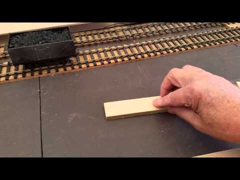 Construction of platforms for West Green Railway O gauge