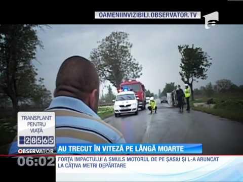 Trei tineri din Tulcea au scăpat ca prin minune dintr-un accident de maşină!