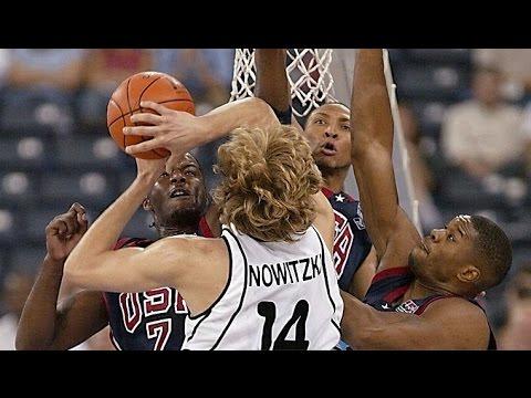 USA vs Germany 2002 FIBA World Basketball Championship Group Match FULL GAME Italian