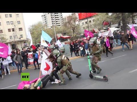Chile: Caos En La Jornada De Protesta Nacional