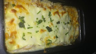 Lasagna without Ovan /  Beef Bread Macaroni Lasagna easy recipe by RJ Kitchen