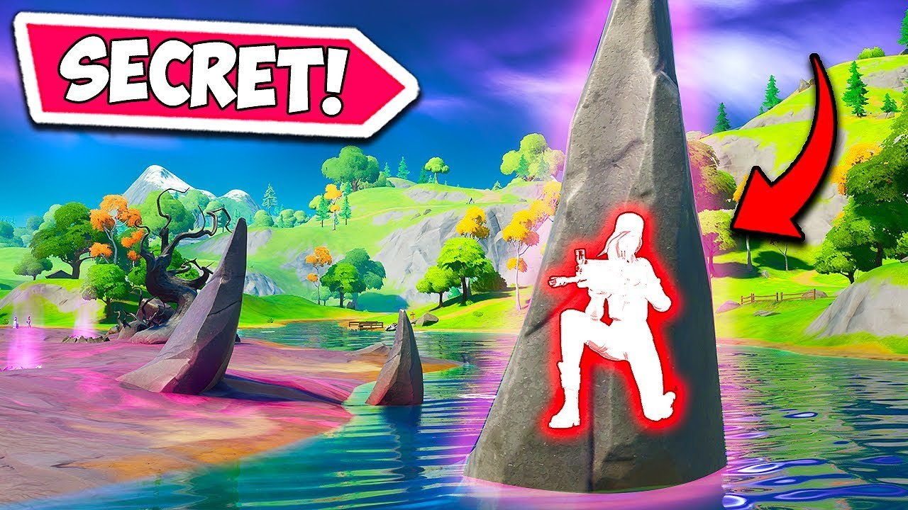 *NEW* SECRET ROCK HIDING SPOT!! - Fortnite Funny Fails and WTF Moments! #730
