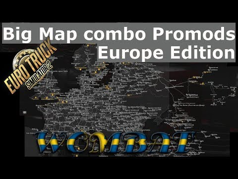 ETS2 1.33 - Big Map Promods 2.32 Version - Europe Edition