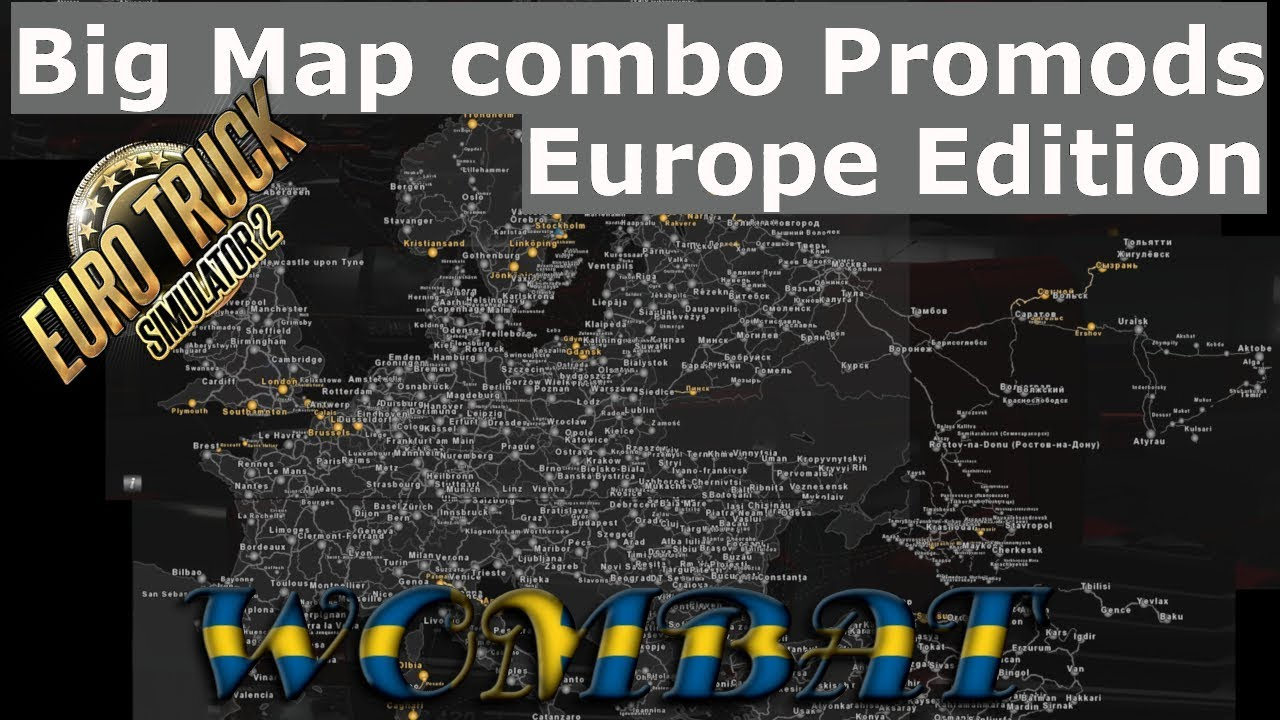 ETS2 1 33 - Big Map Promods 2 32 Version - Europe Edition