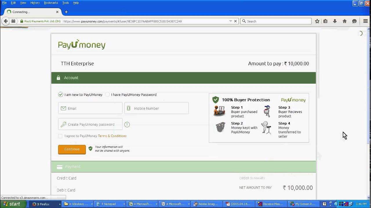 Pay U money transfer tutorial