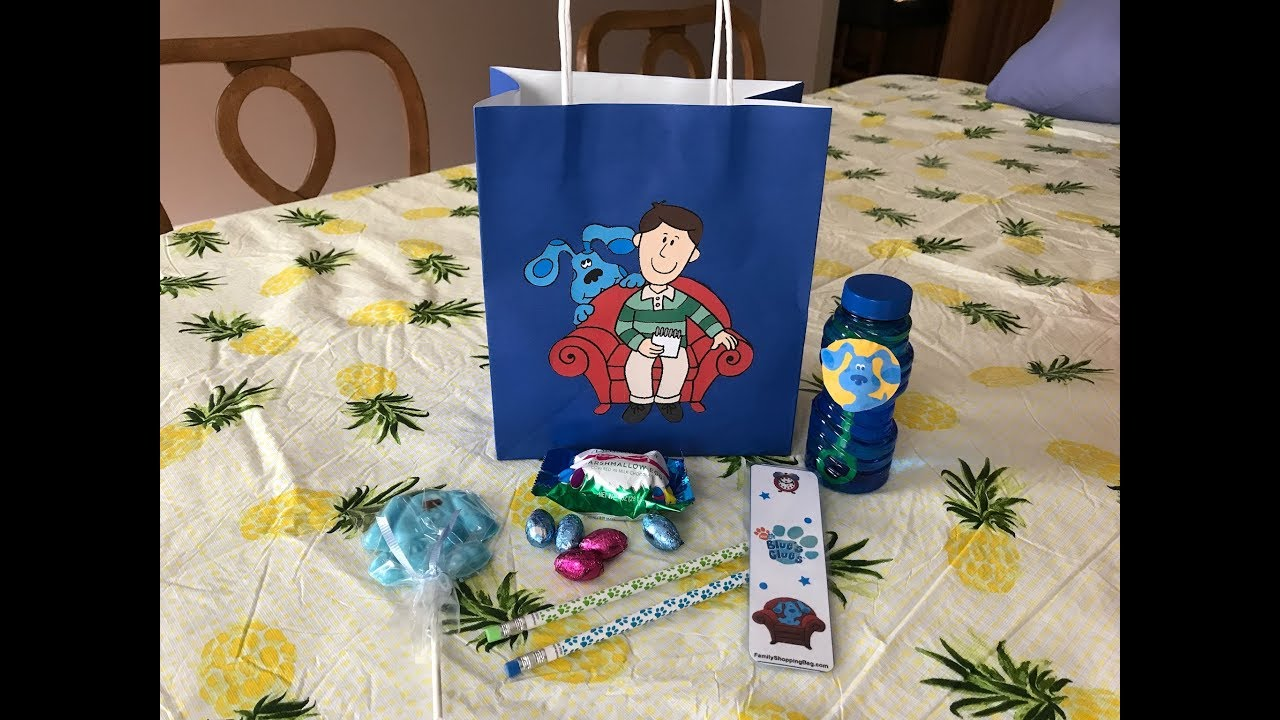 diy blues clues birthday party kids goodie bag ideas