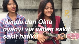 Gambar cover Pengamen cantik ini nyanyi lagu via vallen sakit sakit hatiku Asiik banget!!