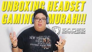UNBOXING HEADSET GAMING MURAH!!! (Sades Headset Gaming Chooper SA711)