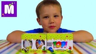 Топи яйца сюрприз с игрушками машинками Topi surprise eggs with toys unboxing