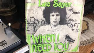 Leo Sayer - When I Need You (vinyl)
