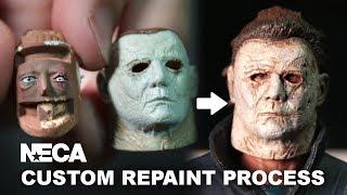 neca halloween custom repaint process michael myers action figure