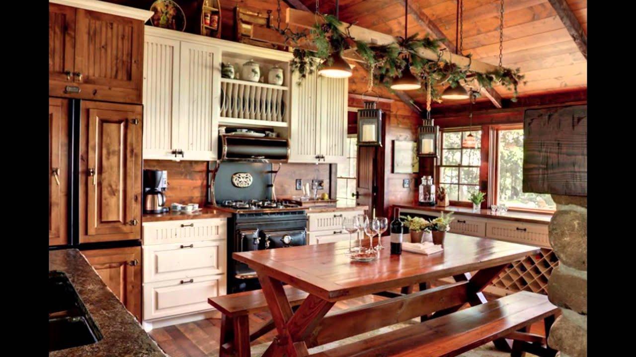 Photos Gallery of Lake House Kitchen Design Ideas with ... on Farmhouse:4Leikoxevec= Rustic Kitchen Ideas  id=49240