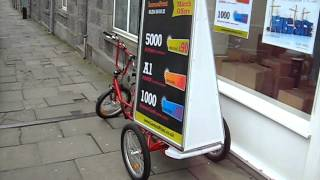 Promotional Bike - Lemon Marketing Aberdeen (Ad bike with music & lights)