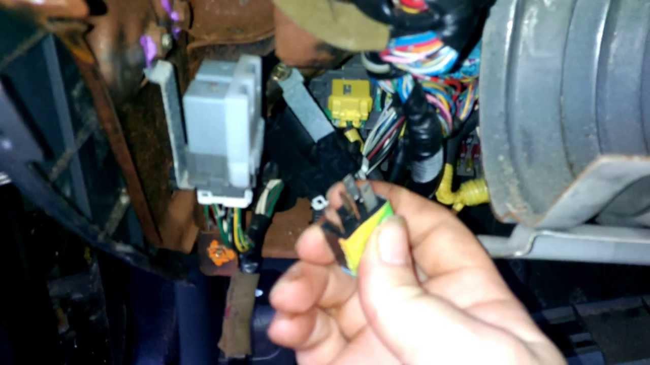 95 Chevy S10 Ignition Wiring Diagram Clutch Cutoff Relay Youtube